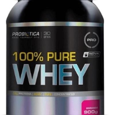 100% Pure Whey 900g Probiótica - Morango