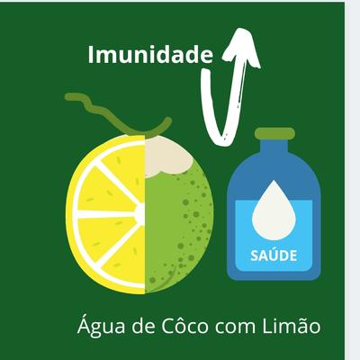 Água de Côco com Limão - Garrafinha 300ml
