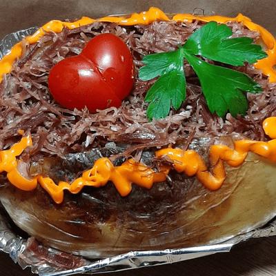 03 - Batata Assada/ Carne Seca com Cream Cheese
