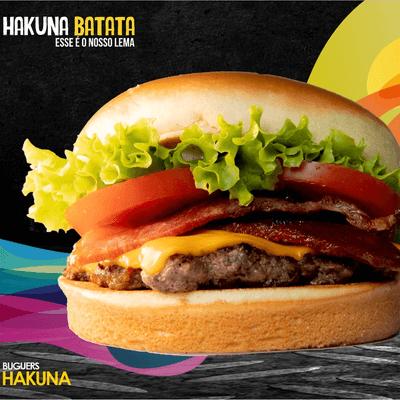 Hakuna Bacon + Batata + Refrigerante Lata