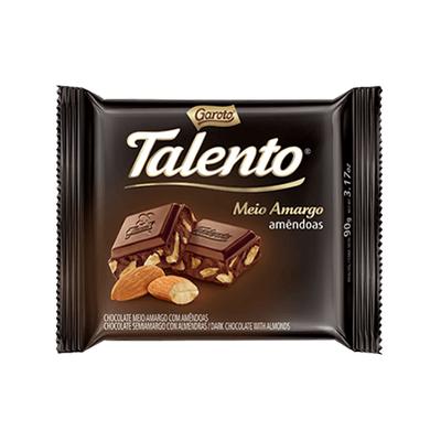 Talento Meio Amargo Amêndoas 90g