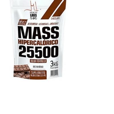 Mass Hipercalórico 25500 3kg Health Labs - Chocolate