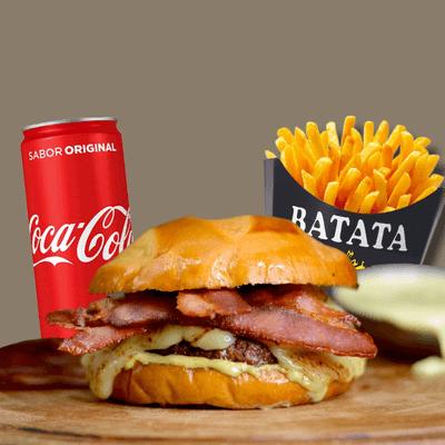 Cheese Bacon + Refrigerante Lata + Fritas