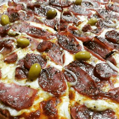Pizza Portuguesa Média - 4 Pedaços