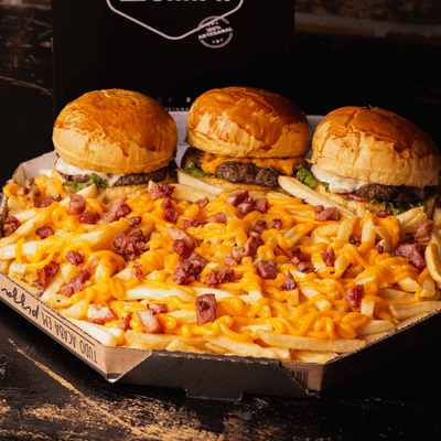 Pizza Burguer Cheddar e Bacon - Grande