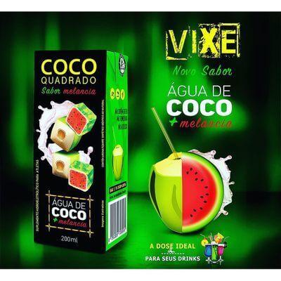 Água de Coco Quadrado - Sabor Melancia 200ml