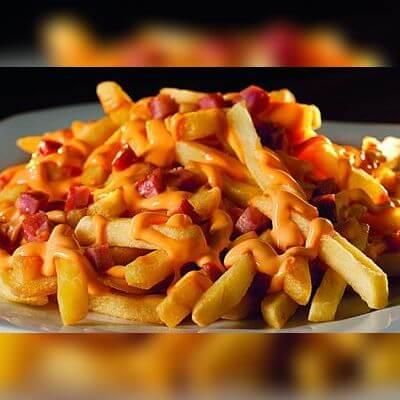 Batata Frita, Cheddar e Bacon Crocante - 220g