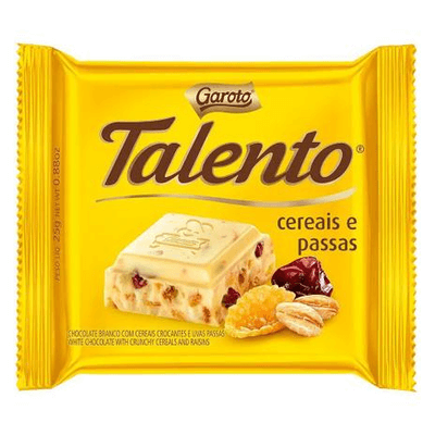 Mini Talento Cereais e Passas 25g