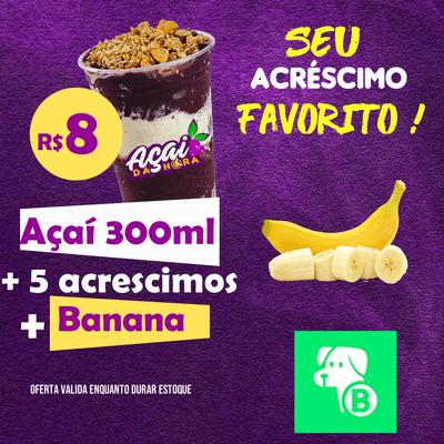 Açaí 330ml + Banana GRÁTIS