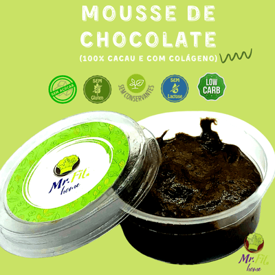 Mousse de chocolate 100% cacau