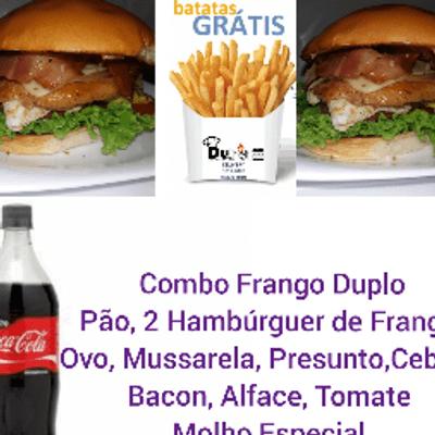 Combo Frango Duplo - 2 Sanduíches + Coca Cola 1L + Batata Frita P