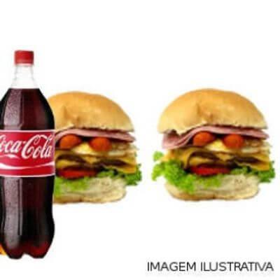 Promoção Lanche + Batata + Bebida: Combo 2 Du Bravo Tudo em 2 Pães + Coca Cola 1L