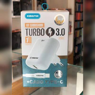 Kit Fonte + Cabo Type C Carregamento Turbo