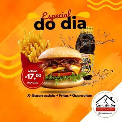 Promoção: X Bacon Costela +Fritas + Guaraviton
