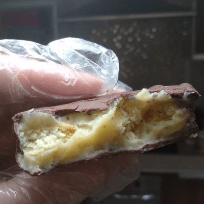 Palha Italiana de Maracuja Banhada no Chocolate