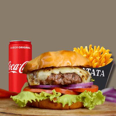 Salada Burger + Refrigerante Lata + Fritas