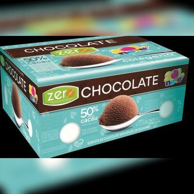 Sorvete Zero Açúcar de Chocolate com 50% Mais Cacau e Colágeno