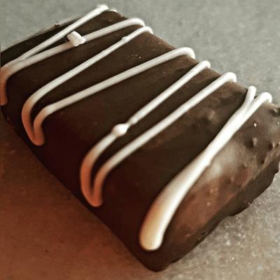 Paçoquita com chocolate