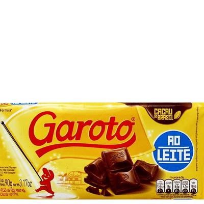 Barara de Chocolate Ao Leite Garoto - 90g