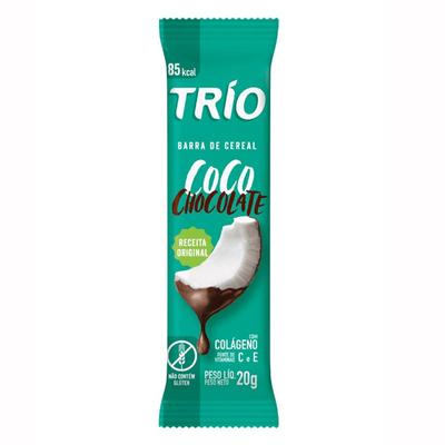Barrinha de Cereal Trio - Coco com Chocolate 20g