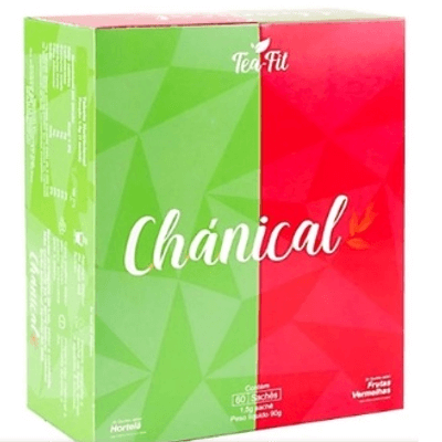 Chánical 60 Sachês Tea Fit - Sabor Hortelã/Frutas Vermelhas