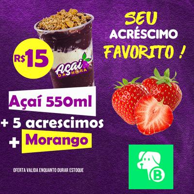 Açaí 550ml + acréscimo Morango