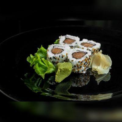 Uramaki de Salmão/Sem Cream Cheese(4 un)
