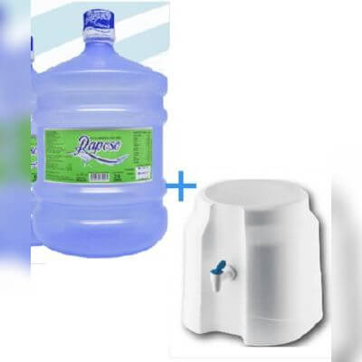 Água Mineral Raposo 20L + Vasilhame + Suporte