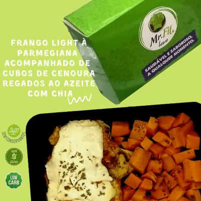 Frango à Parmegiana - low carb, sem glúten.
