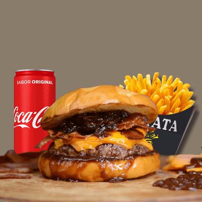 BBQ Burger + Refrigerante Lata + Fritas