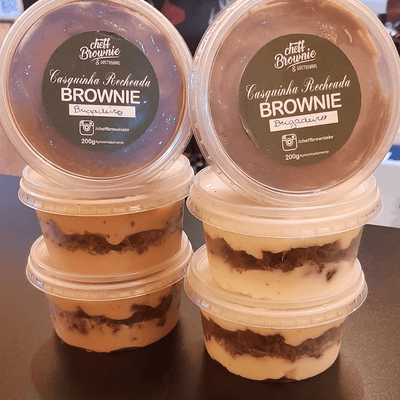 Casquinha de Brownie Recheada
