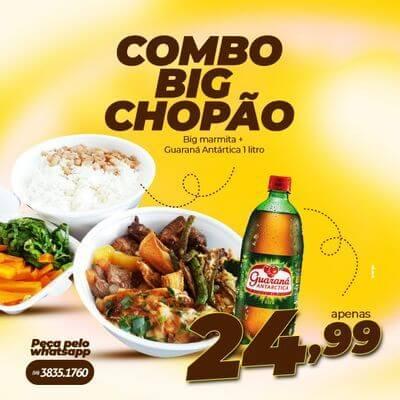 Combo Big Chopão - Big Marmita + Refrigerante 1L
