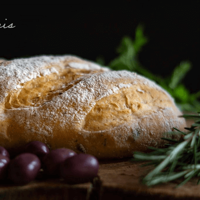 Baguete de Azeitonas e Ervas