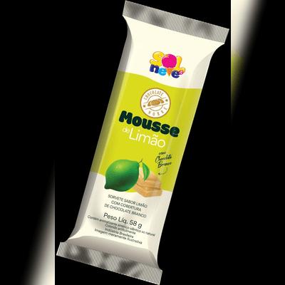 Picolé de Mousse de Limão com Cobertura de Chocolate Branco