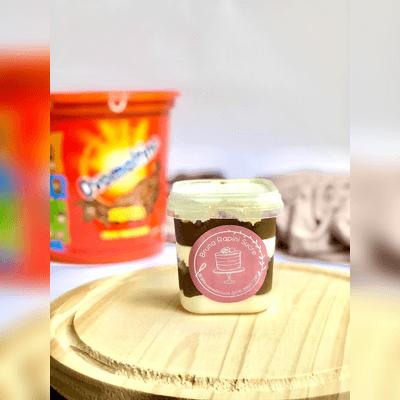 Bolinho de Pote de Nha Benta  com Ovomaltine