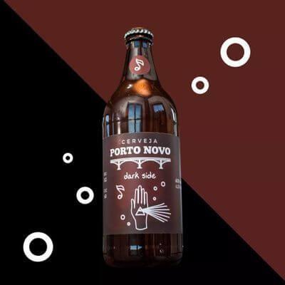 Cerveja Puro Malte Dark Side Porto Novo - 600 ML