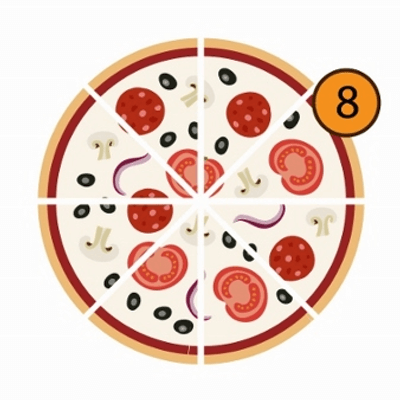 Pizzas Meio a Meio | 8 Pedaços
