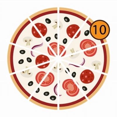 Pizzas Meio a Meio | 10 Pedaços
