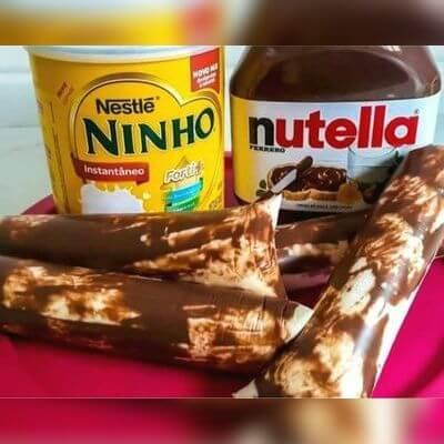Chup-Chup Gourmet Ninho com Nutella