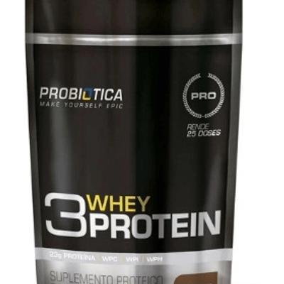 Whey Protein 3W Probiótica  825g - Chocolate