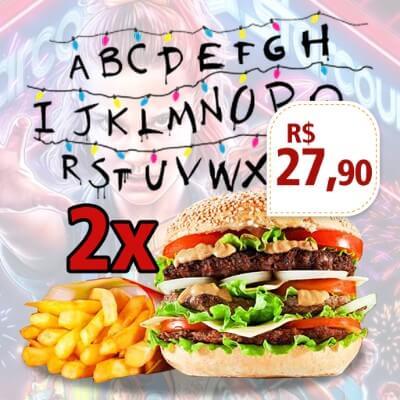Promoção: 2 Stranger Things + Bife Duplo + Porção de Fritas 200gr