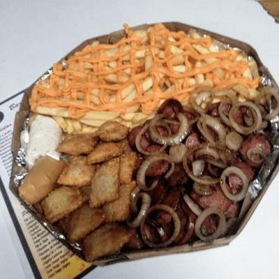 Linguiça Calabresa com Fritas