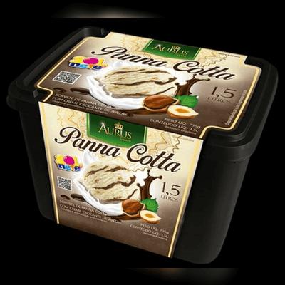 Panna Cotta Com Creme de Avelã Pote - 1,5L