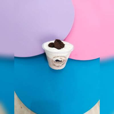 Mousse de Ninho com Nutella Pedaços de Brownie