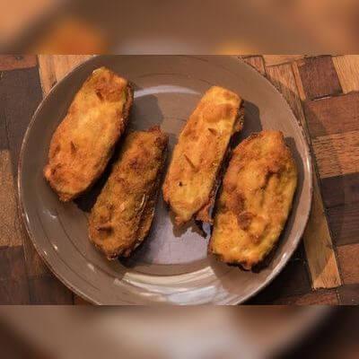 Porção de Jiló Empanado e Recheado