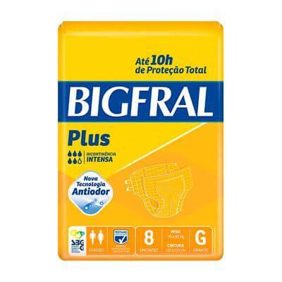 Bigfral Plus Tamanho Grande - 8 Unidades