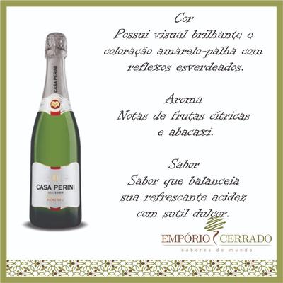 Vinho Brasileiro Casa Peririni Espumante Demi-Sec - 750ml