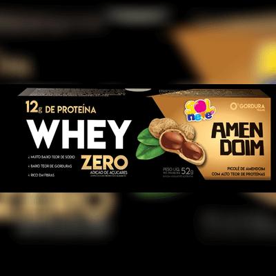 Picolé de Whey Zero de Amendoim