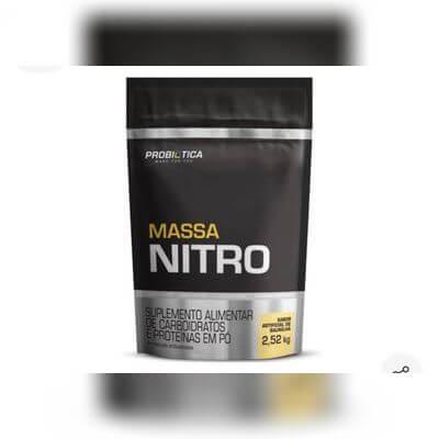 Massa Hipercalórico Massa Nitro Probiotica Refil 2,52kg - Baunilha e Morango