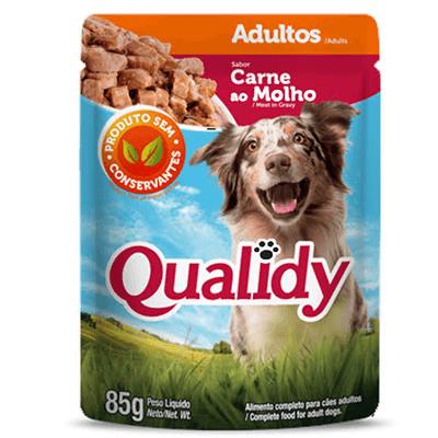 5 Sachê Qualidy Carne Cães